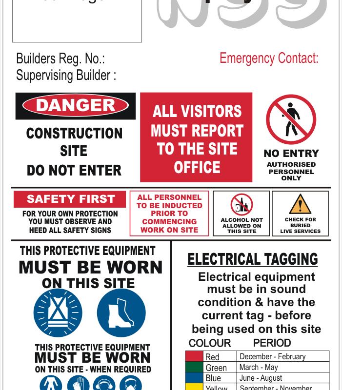 Building contractors sign