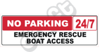 Rescue Boat Access Sign