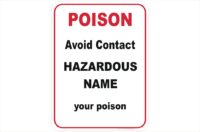 Hazardous Poison Design a Sign