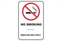 QLD No Smoking Penalties May Apply sign