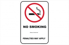 QLD No Smoking Penalties May Apply sign