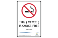 Tas Smoke Free venue design a sign
