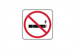 No E Cigarettes sticker