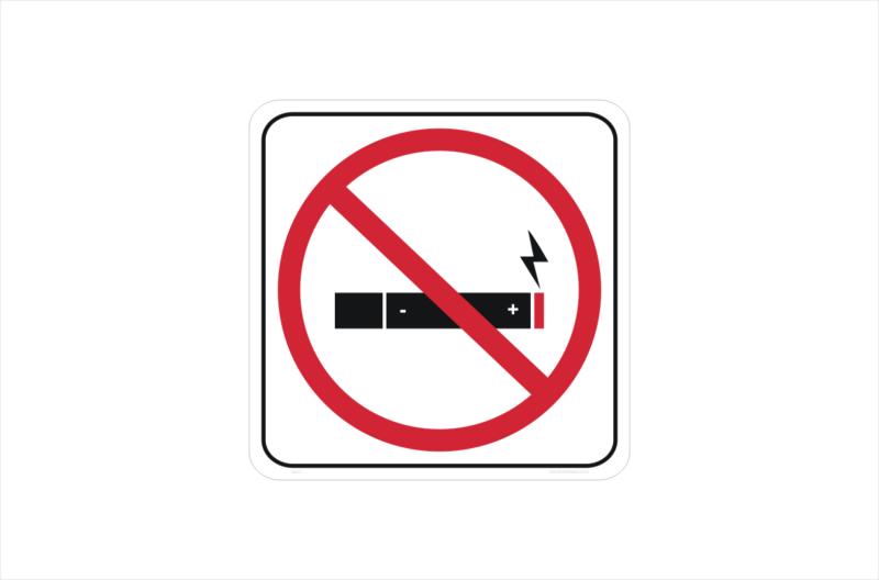 No E Cigarettes sticker