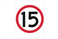 15 kph Sign