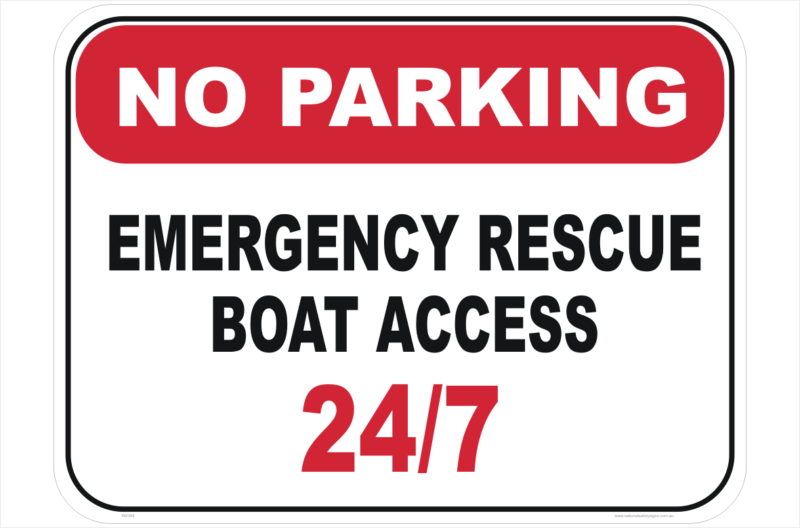 Rescue Boat Access Sign