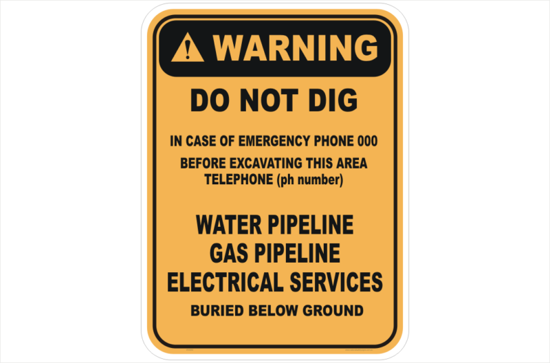 Do Not Dig sign