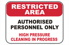 High Pressure Cleaning sign