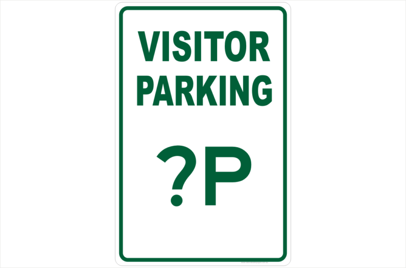 Visitor Parking Design a Sign