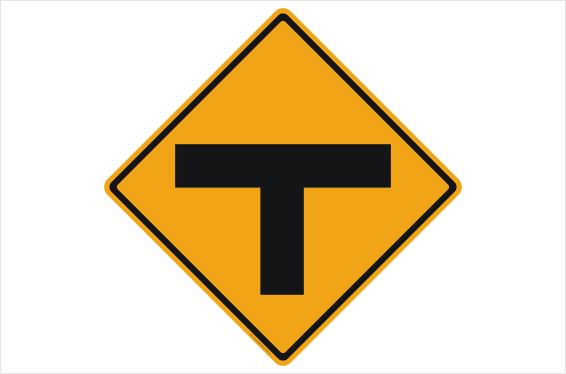 T Junction sign