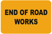 End Roadwork Sign