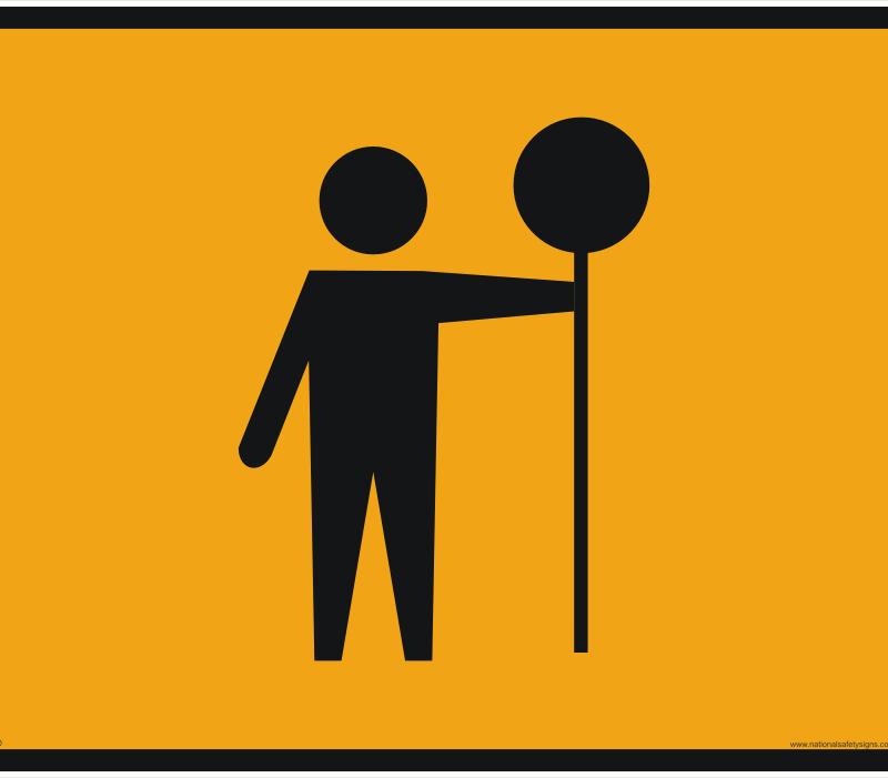 Workmen sign