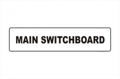 Main Switchboard sign