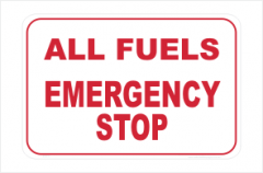 All Fuels Emergency Stop sign
