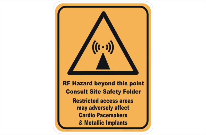 RF Hazard Sign
