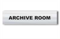 Archive Room sign