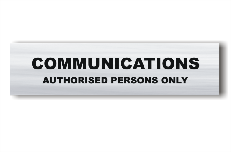 Communication Room sign