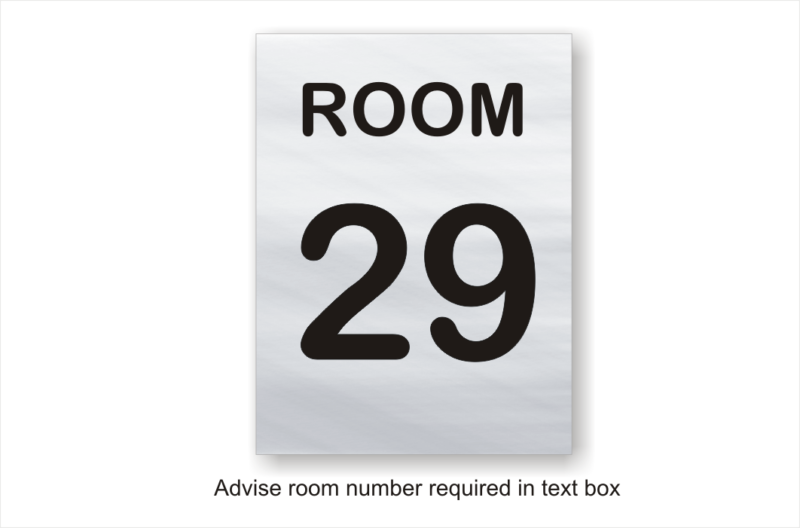 Room number sign