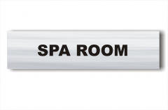 Spa room sign