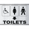 Toilets sign