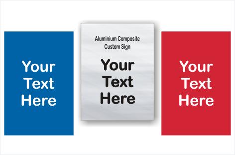 Design your Customised Brushed Aluminium sign