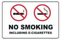 No E-Cig (E Cigarettes) sign