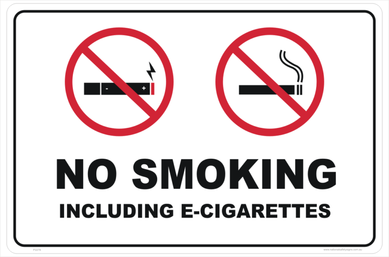 No E-Cig (E Cigarettes) sign
