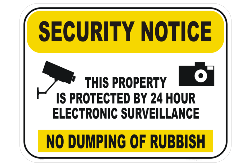 VARIOUS SIZES SIGN /& STICKER OPTIONS NOTICE SECURITY CAMERAS IN USE SIGN