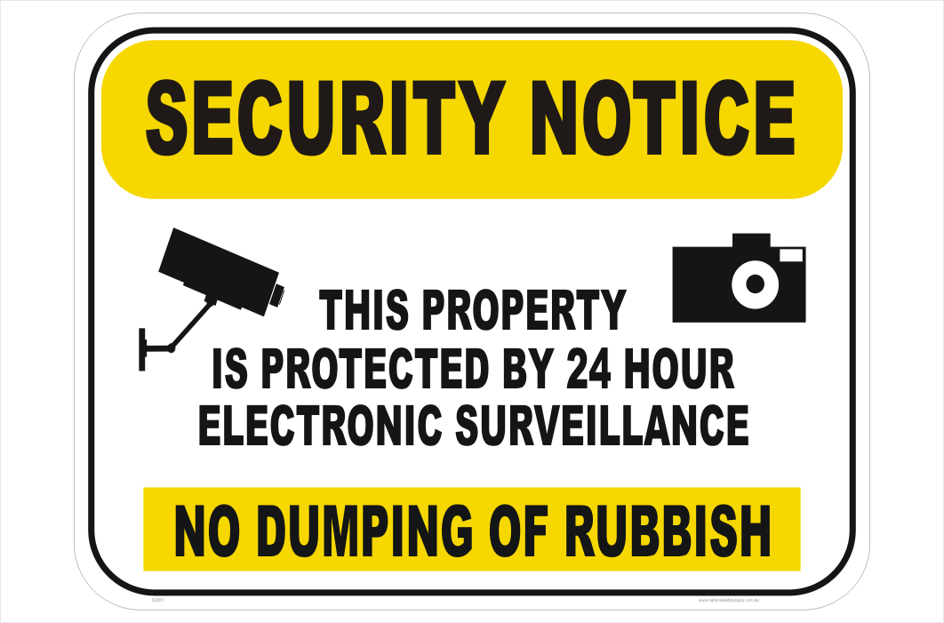 No dumping of rubbish Sign