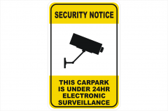 Security CCTV Camera 24Hr Surveillance sign