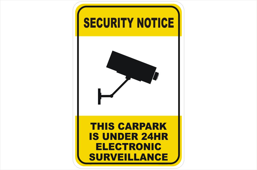 Security CCTV Camera 24Hr Surveillance sign