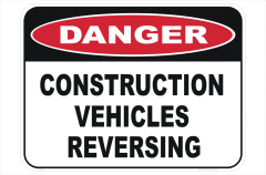 Vehicles Reversing Sign
