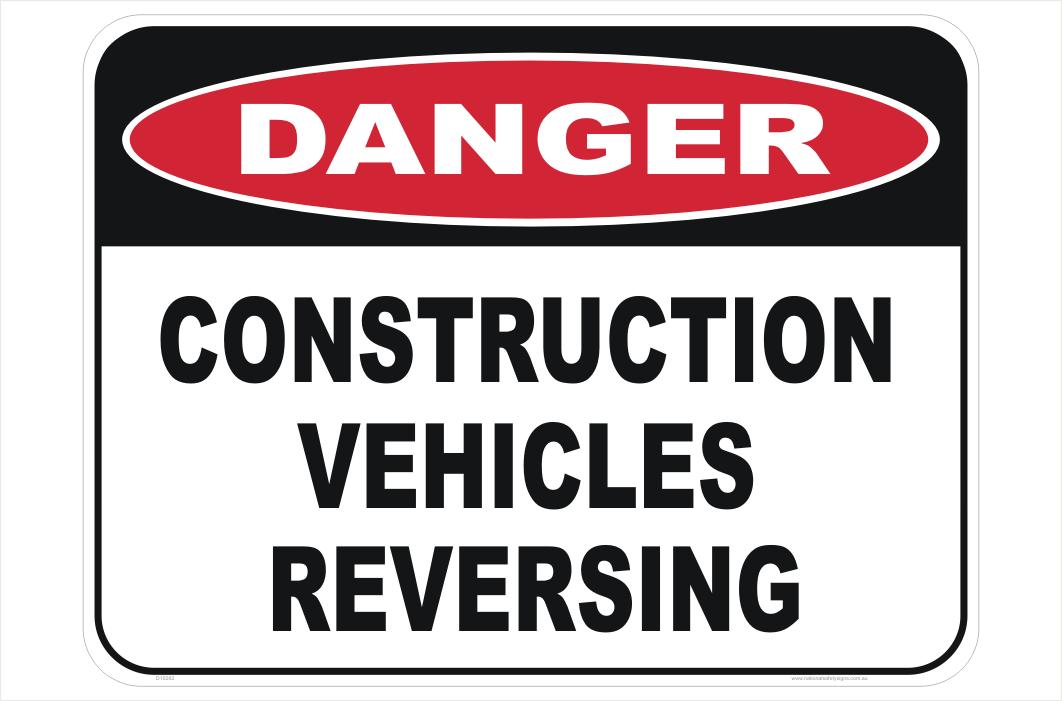 Vehicles Reversing Sign