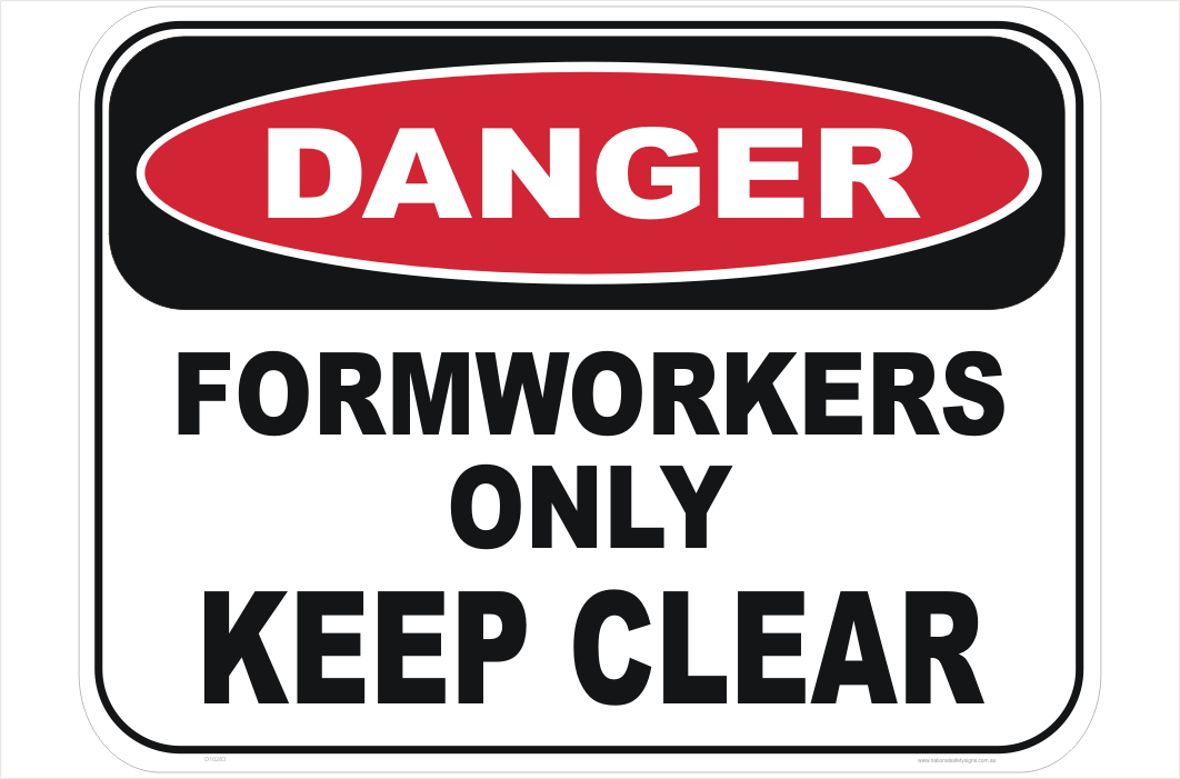 Formwork Danger sign