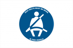 Seatbelt must be worn sticker