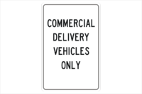 Commercial Vehicles Only Sign