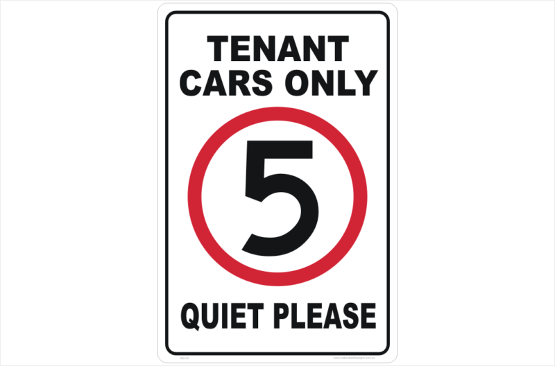 Tenant cars Only Sign