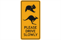Animal Road Sign