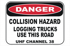 Logging Trucks Collision sign