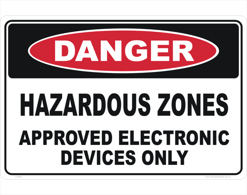 Hazardous Zones sign