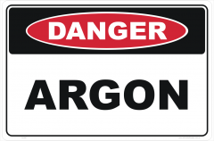 Argon Gas Hazchem Sign