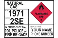 Transport Emergency Information Panel Natural Gas
