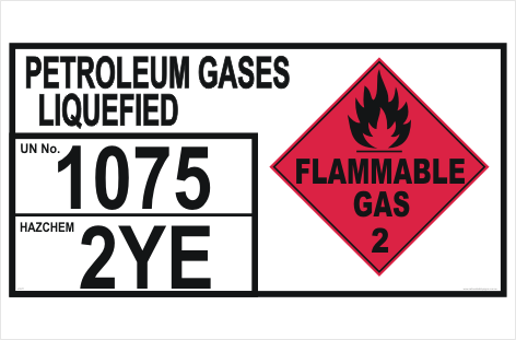 LPG Storage placard