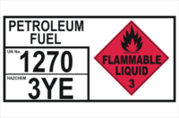 Dangerous Goods Storage Panel Petroleum Fuel