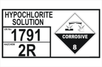 Dangerous Goods Storage Panel Hypochlorite Solution