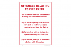 Fire Exit Offences Act 2000 signn