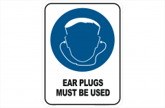 Ear Plugs Mandatory sign