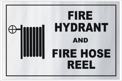 Fire Hydrant Hose Reel Aluminium sign