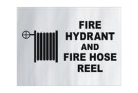 Fire Hydrant Hose Reel Aluminium sign