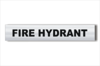 Fire Hydrant Brushed Aluminium sign